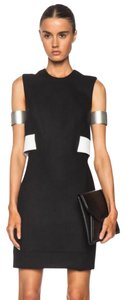 Helmut Lang Sleeveless Contrast Cut-out Leather Dress