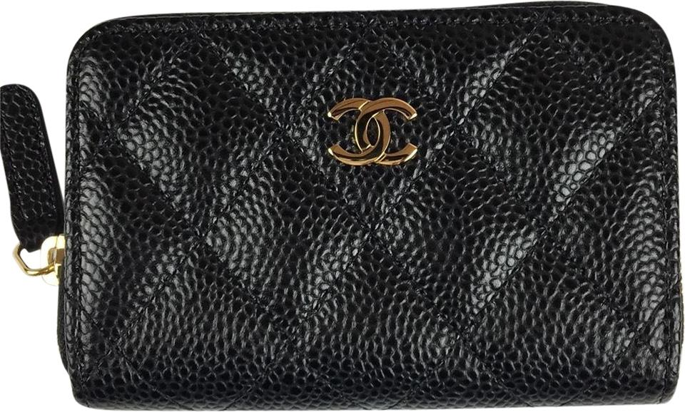 071787a223f3 Chanel Black Classic Timeless O Coin Purse Wallet - Tradesy