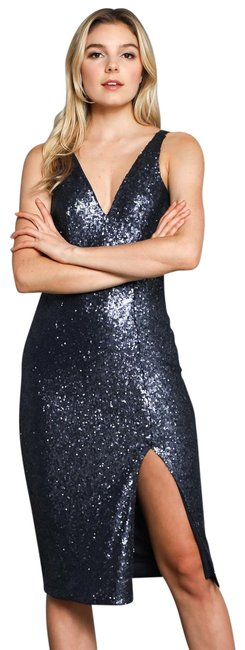 Do+Be Navy Sequenced Short Night Out Dress Size 2 (XS) Do+Be Navy Sequenced Short Night Out Dress Size 2 (XS) Image 1