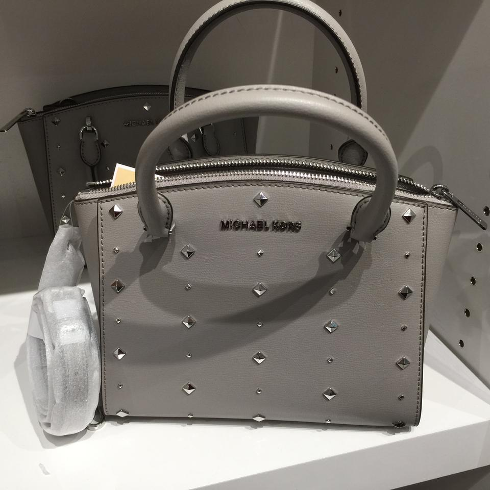 e8a53d0d3324 Michael Kors Ellis W  Matching Wallet Perl Gray Saffiano Leather Satchel -  Tradesy