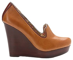 Seychelles Tan Mustard Wedges