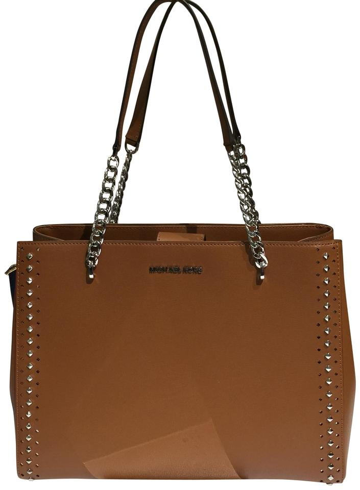 bf3fd67c05ad Michael Kors Luggage Color Leather New Ellis Large Tote - Tradesy