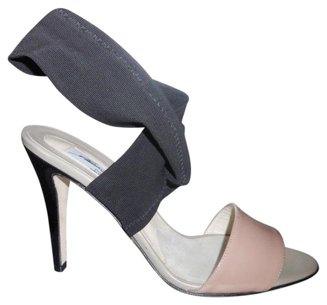 Item - Nude Charlotte Patent Leather Mesh Ankle Strap Open Sandals Size EU 37 (Approx. US 7) Regular (M, B)