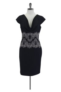 Karl Lagerfeld short dress Black With White Embroidery on Tradesy