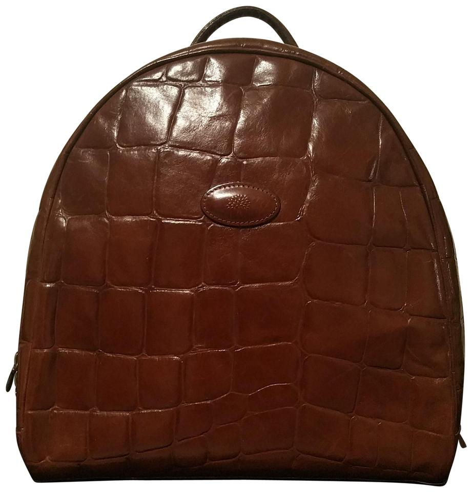 963768c435 Mulberry Hand- Held Brown Leather Backpack - Tradesy