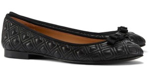 Tory Burch Marion Quilted Ballet Bow Black Flats