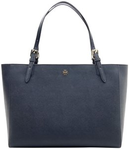 Tory Burch Shoulder Shopper Tote in Navy