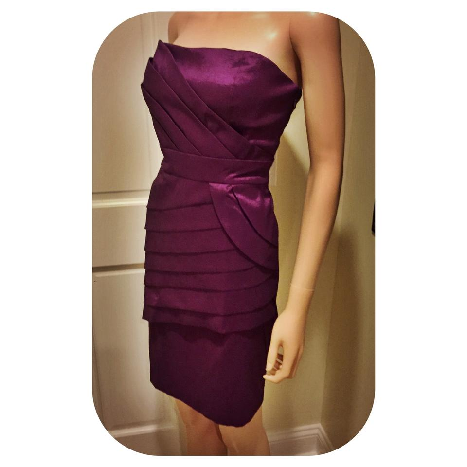 Max and Cleo Royal Purple ... Short Cocktail Dress Size 8 (M) - Tradesy