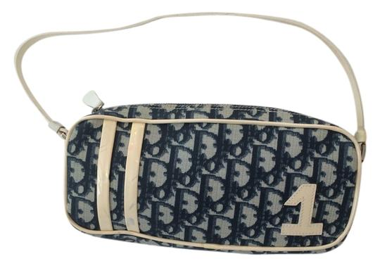 Dior Vintage Blue and white Clutch