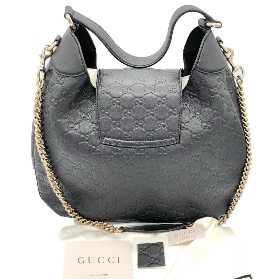 ac6b780bce1 Gucci Emily Guccissima Signature Black Leather Hobo Bag - Tradesy