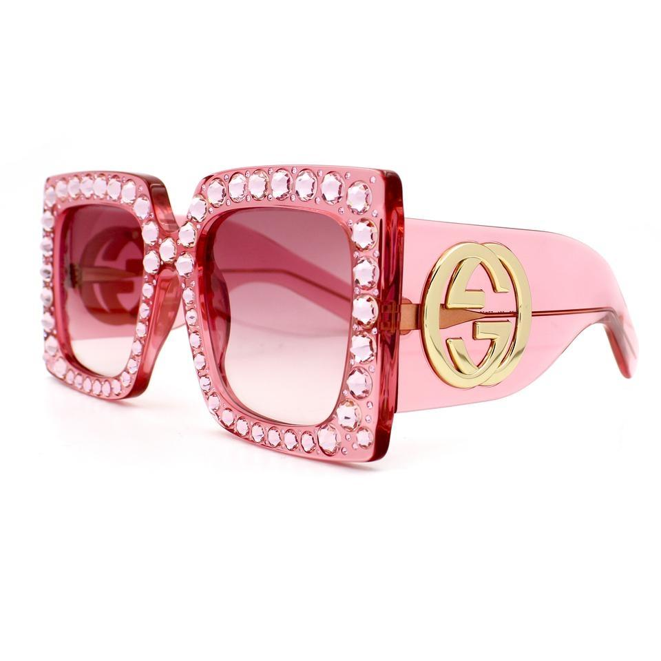 c9848d19604e Gucci Pink Oversize Square-frame Acetate with Lenses Gg0145 Sunglasses  Image 0 ...