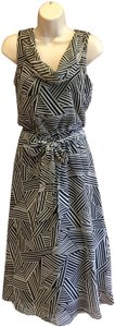 black and white Maxi Dress by JBS Limited