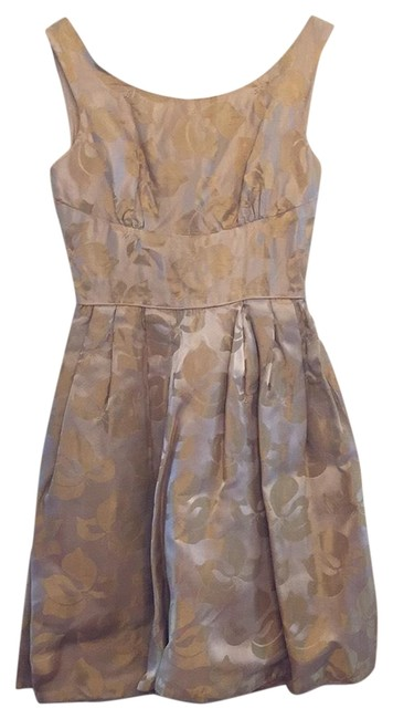 Item - Gold/Yellow Party Mid-length Short Casual Dress Size 4 (S)