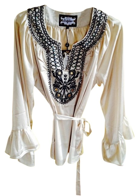 well-wreapped Embellishments Big Bell Sleeves Tunic 52% Off #2262399 - Tunics
