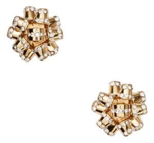 Kate Spade Kate Spade Gold Gift Bow Pave earrings
