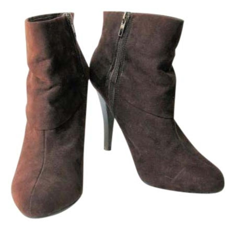 7adfb67c7 Marc Fisher Brown Vallay 4 Cuffed Micro Suede Ankle Boots/Booties ...