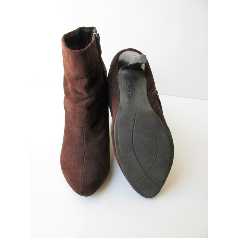 c851794f3 Marc Fisher Vegan Micro Suede Ankle Brown Boots Image 11. 123456789101112