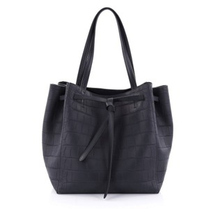 Céline Leather Tote in navy