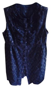 Anna Sui Lace Overlay Form Fitting Top Dress