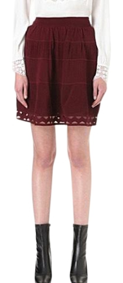 15dd9126d Sandro Red Bianca Skirt Size 0 (XS, 25) - Tradesy