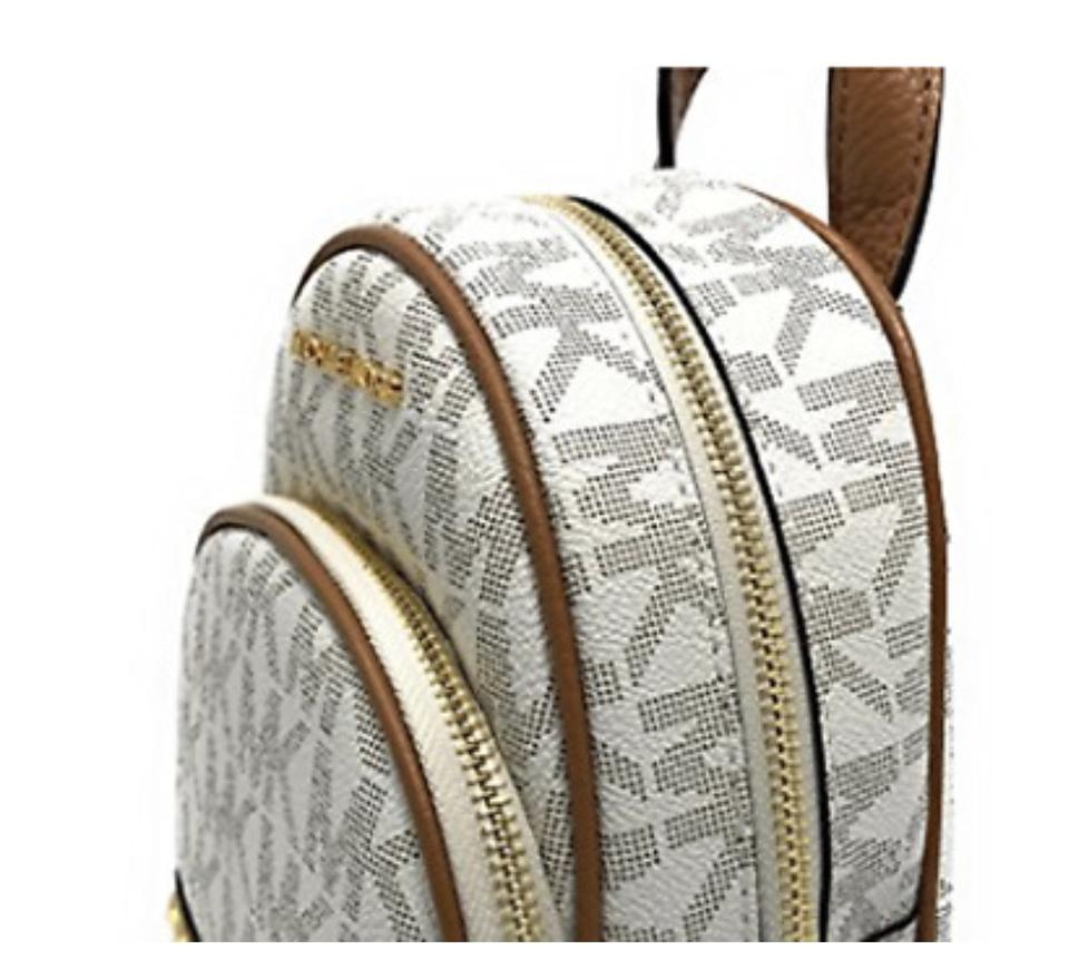 c65bee7d362 Michael Kors Abbey Mini White and Brown Leather/Studs Backpack 42% off  retail