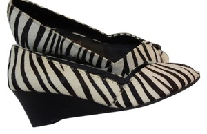 Steven by Steve Madden Zebra pony hair Wedges