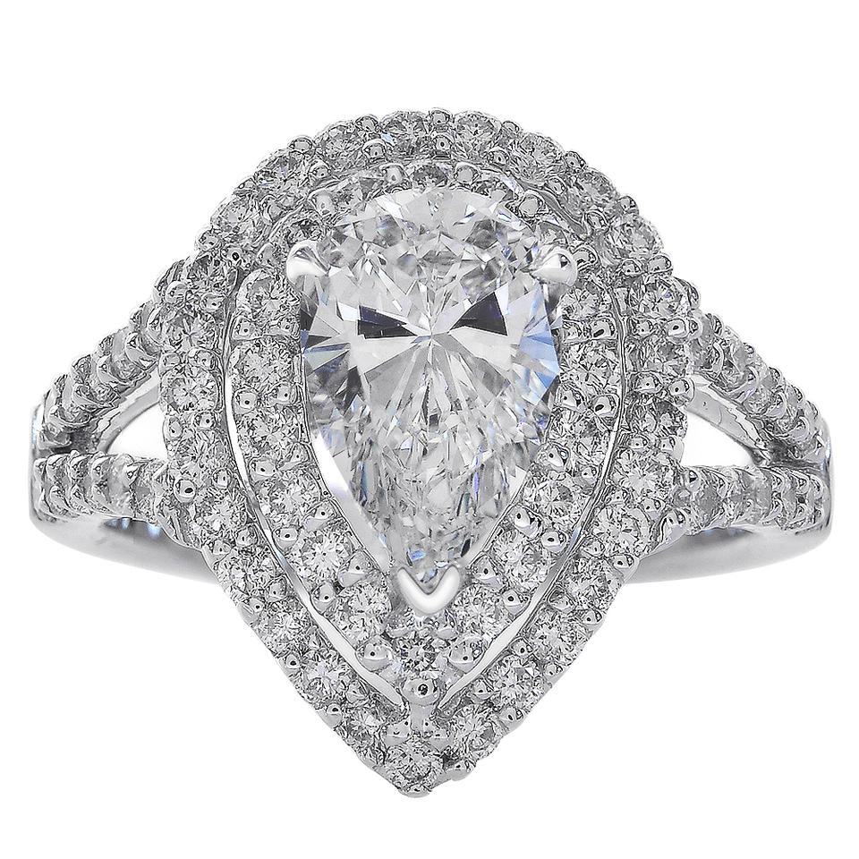 platinum rings rose engagement diamond the finnies image pear wedding jewellers ring shape gold and