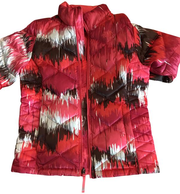 The North Face Pink Multi Girls(Children's) Jacket Color Coat Size 16 (XL, Plus 0x) The North Face Pink Multi Girls(Children's) Jacket Color Coat Size 16 (XL, Plus 0x) Image 1