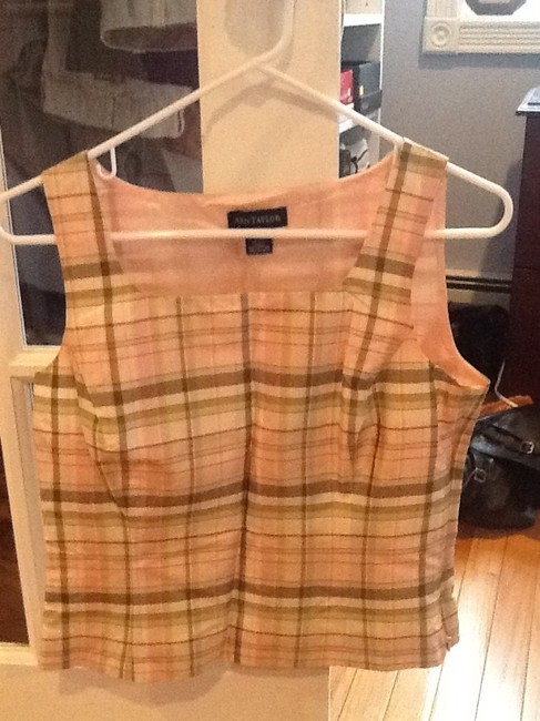 Ann Taylor Top Pink, olive green