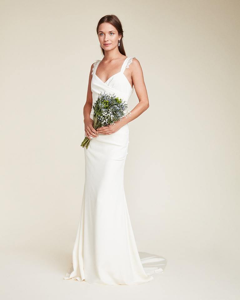 Nicole Miller Bridal Ivory Crepe Alexis Traditional
