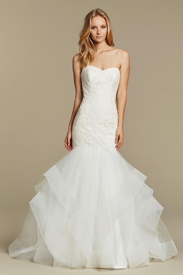598eb8290be Blush by Hayley Paige Ivory Lace   Tulle with Horsehair Trim Azi Vintage Wedding  Dress