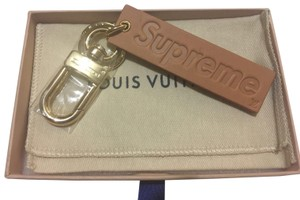 Louis Vuitton x Supreme Limited Edition SUPREME Pte. Cles VVN Box Logo Keychain