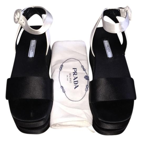 Prada Black and White Mules