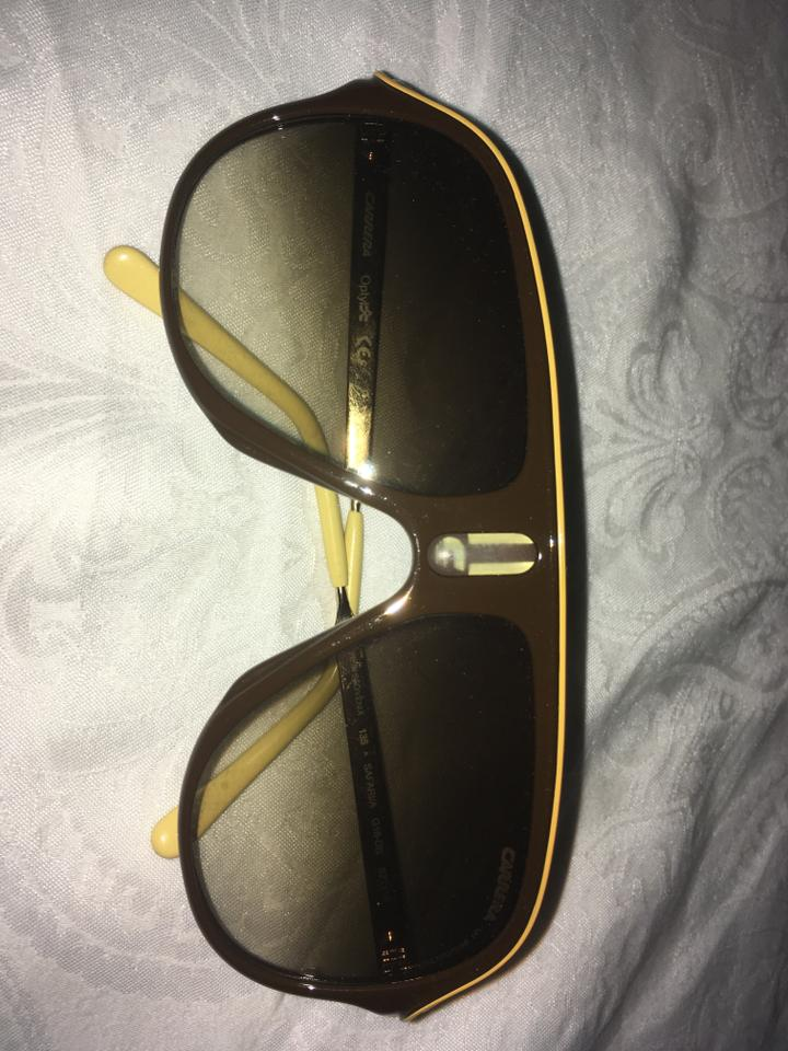 e873d5b7ee4f Carrera Brown Yellow Stripe Style G16-db Sunglasses - Tradesy
