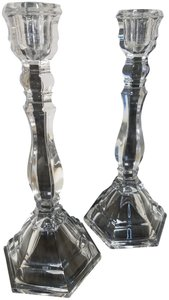 Tiffany & Co. Tiffany & Co. HAMPTON Crystal Candlestick Holders