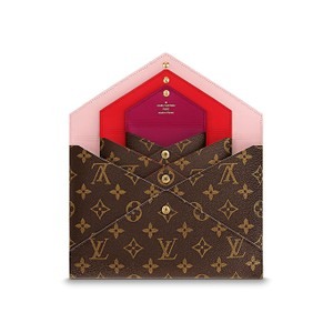 Louis Vuitton Holiday Fall Pochette Accessories Brown Red Pink Clutch