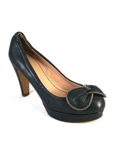 See by Chloé Bowtie Leather Black Pumps