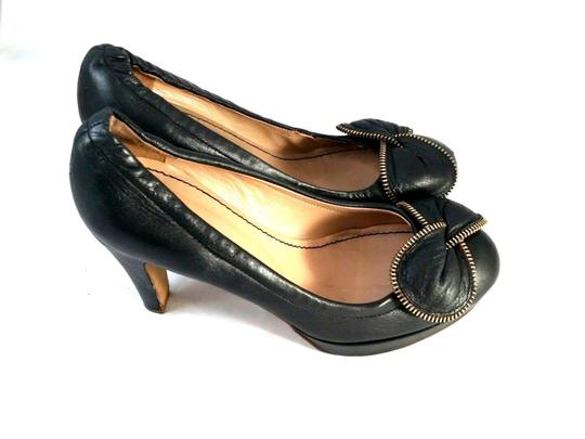 See by Chloé Bowtie Leather Black Pumps Image 2