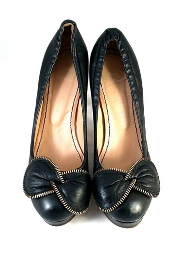 See by Chloé Bowtie Leather Black Pumps Image 5