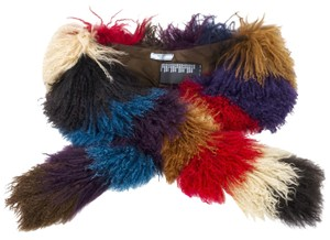 Prada Prada Multi-Color Curly Sheep Fur Scarf