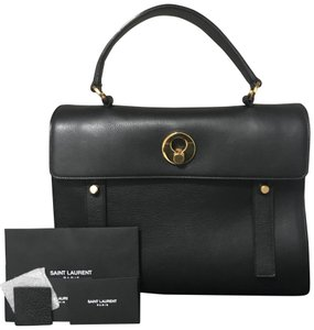 Saint Laurent Yves Muse Satchel in Black