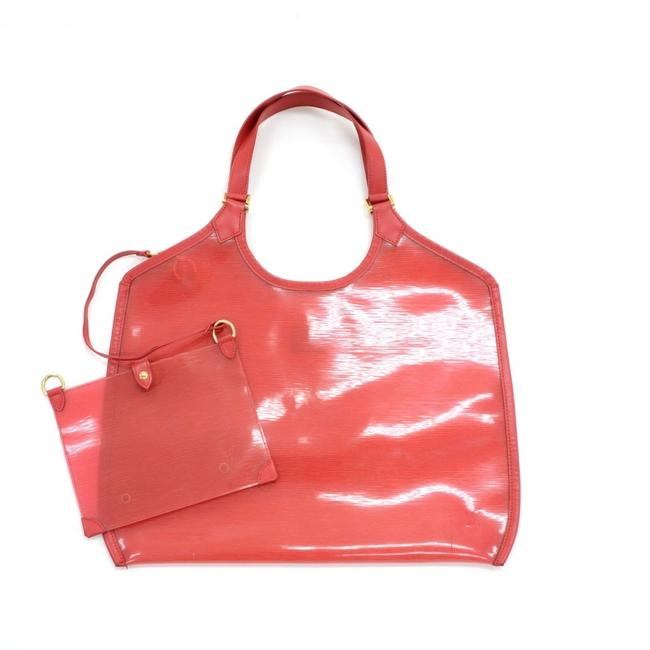 Item - Plage Lagoon Gm + Pouch Red Vinyl Beach Bag