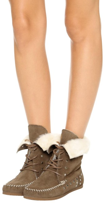 Item - Camel New Studded Nifty Moccasin Faux Shearling Lined Lace Boots/Booties Size EU 40 (Approx. US 10) Regular (M, B)