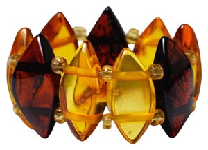 NY Collection Natural Multicolor Marquise Amber Gemstone Adjustable Womens Band Ring
