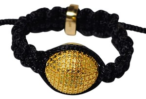 NY Collection Canary Diamond Bead Shamballa Adjustable Band Womens Gold Plated Steel