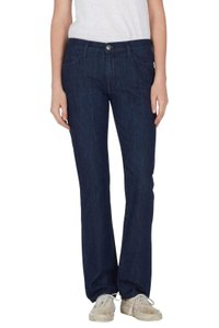 Current/Elliott Casual Straight Flare Leg Jeans-Dark Rinse