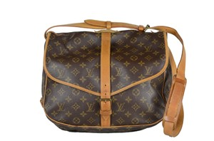 Louis Vuitton Leather Saumur Cross Body Bag