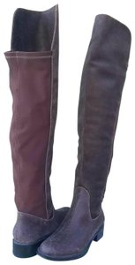 Andre Assous Brown Distressed Leather Boots