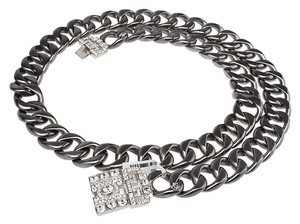 Chanel Chanel Graphite Metal Chain Belt (37471)