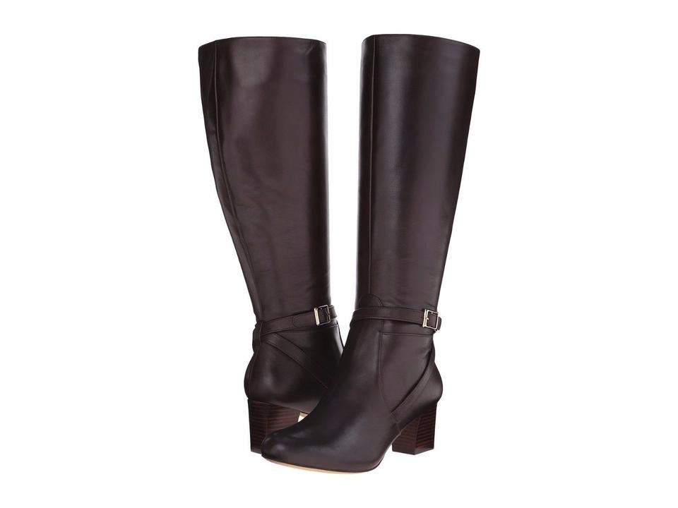 Trotters Dark Brown Women's Peaches Wide Calf - Women's Brown Riding Boots/Booties fe4ac2